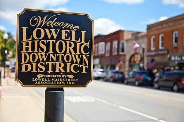 Lowell Indiana Historic Sign