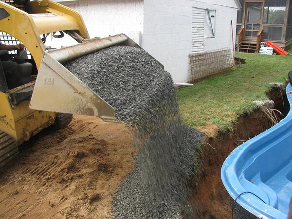 Sand VS Stone: Which Is The Better Backfill for an Inground Fiberglass Pool?