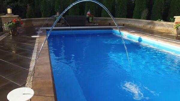 In ground fiberglass swimming pool in Schererville IN